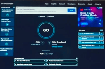 test de vitesse Internet