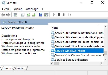 Service Windows Insider
