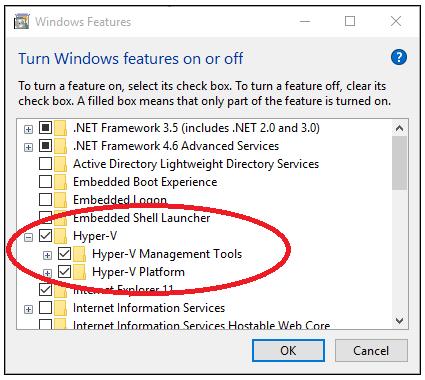 hyper v windows 10