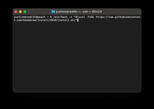 installer Homebrew sur Mac