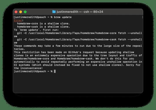 Comment installer Homebrew sur Mac