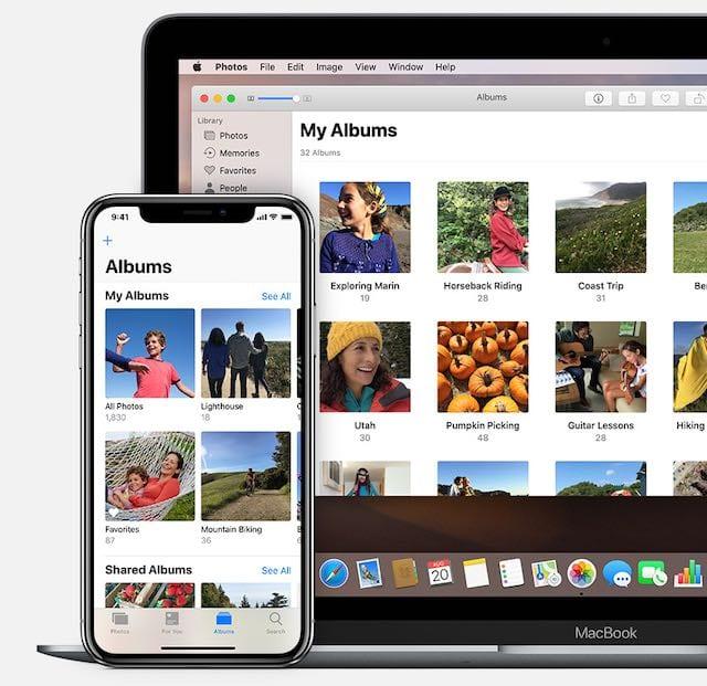 Albums dans Photos iCloud