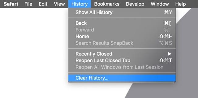 Effacer l'historique de macOS Safari