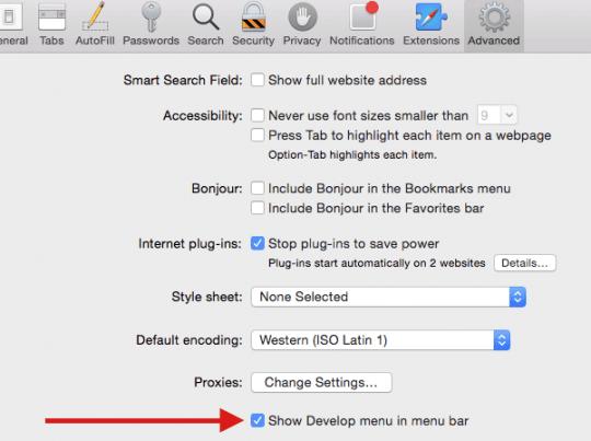 Safari ne montre pas d'images, comment faire