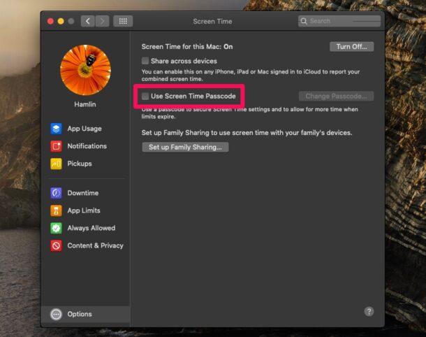 Comment définir le code d'accès à l'écran sur Mac