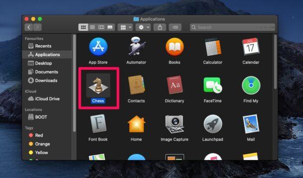 Utilisation du raccourci clavier Obtenir des informations sur Mac