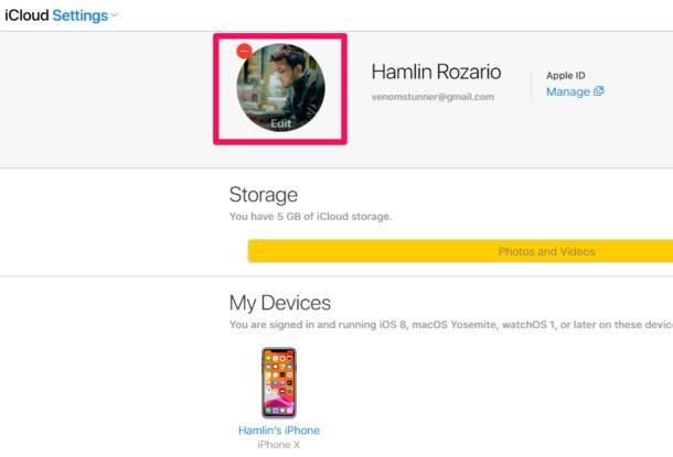 Comment changer l'image de profil de votre identifiant Apple sur iCloud