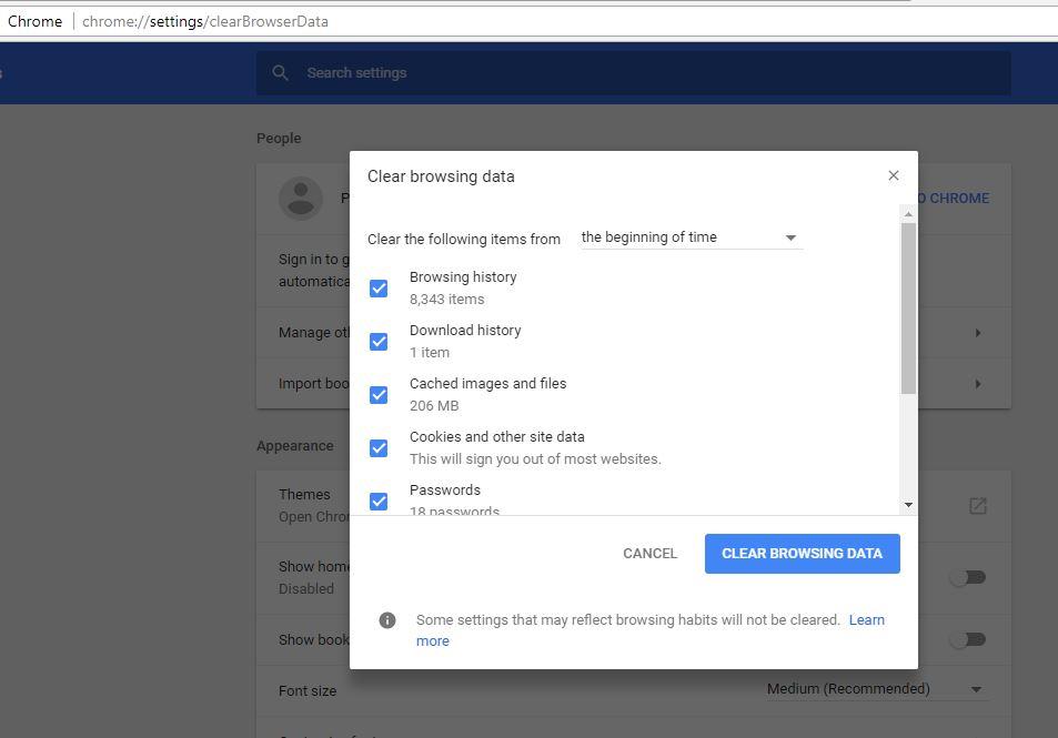 effacer les cookies sur le navigateur Chrome