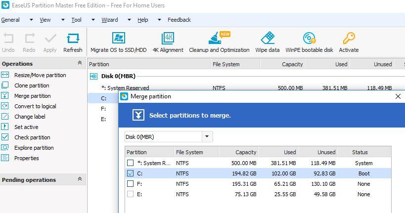 Migrer le système d'exploitation vers le disque dur SSD
