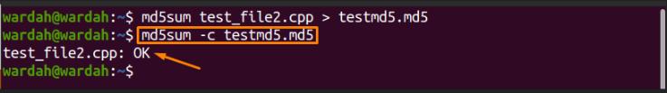 Comment utiliser la commande md5sum?