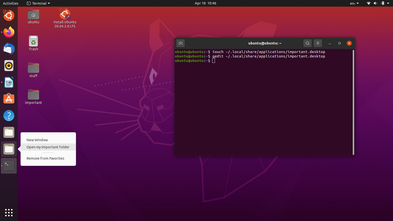 Comment ajouter un dossier à la barre latérale d'Ubuntu?