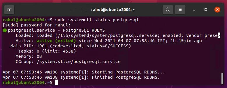Installation de postgresql Ubuntu 20.04 LTS
