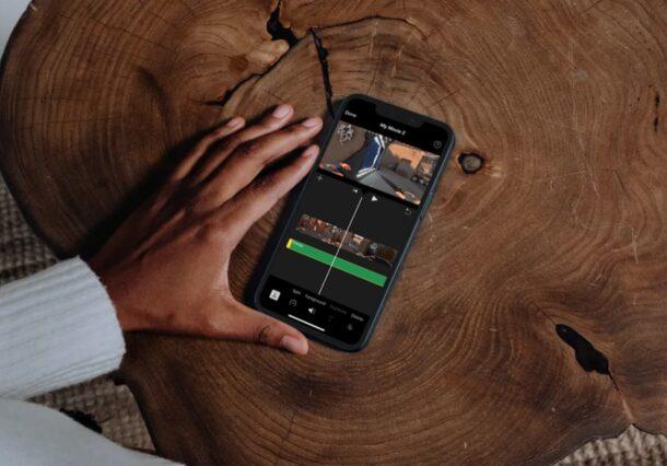 Comment ajouter de la musique de fond dans iMovie sur iPhone et iPad