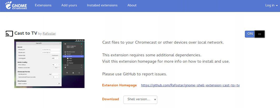 Extension GNOME