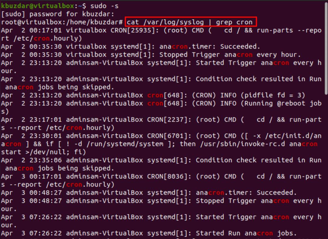 Comment vérifier les journaux cron sous Linux