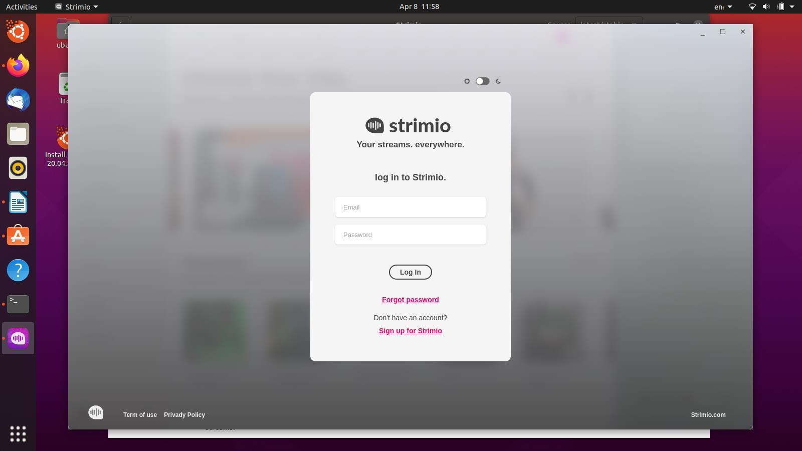 Installer Strimio Radio sur Ubuntu