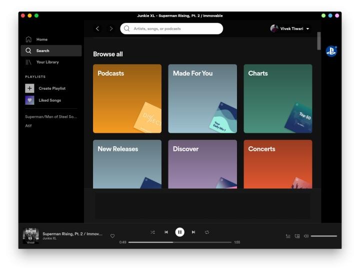 Client de bureau officiel Spotify pour Linux