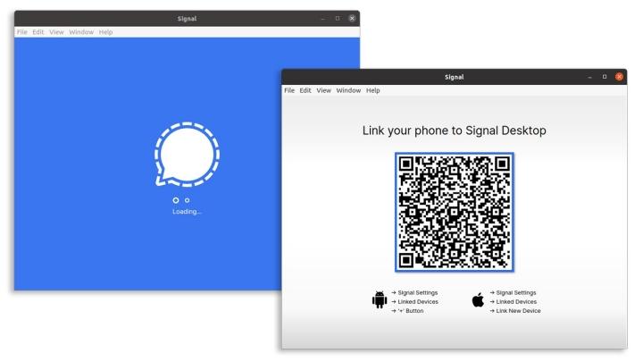 Application de bureau Signal Private Messenger