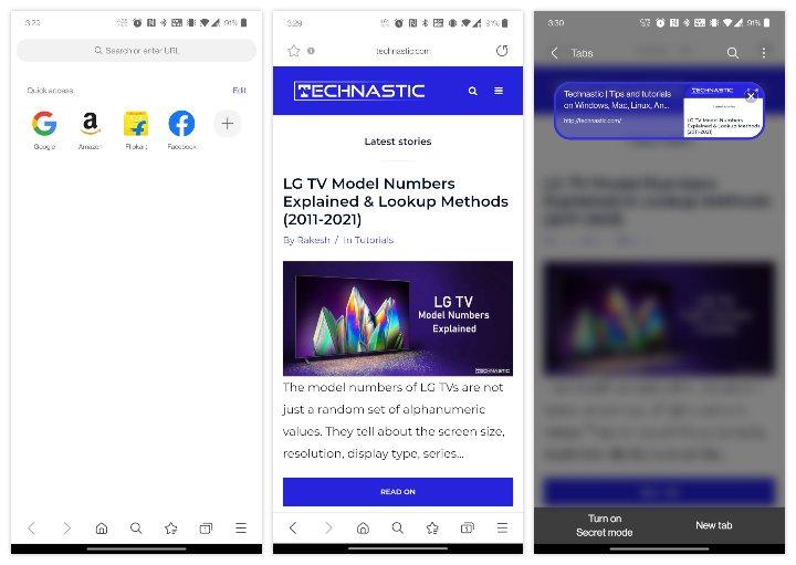 Navigateur bloqueurs de publicités Internet Samsung pour Android