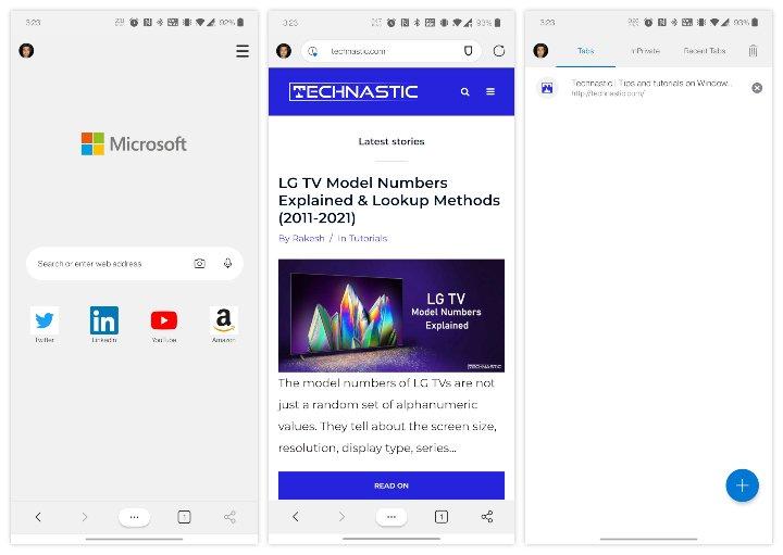 Microsoft Edge pour Android bloqueurs de publicités