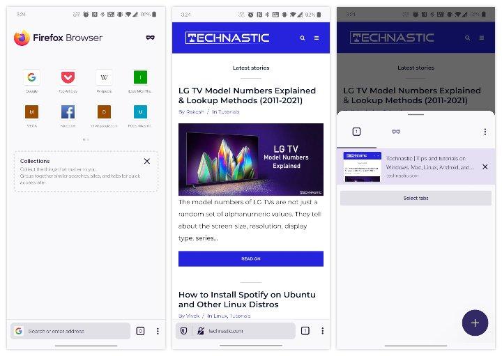 Navigateur bloqueurs de publicitéss Firefox pour Android