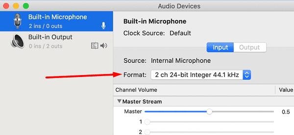 garageband Utilitaire de configuration audio-MIDI